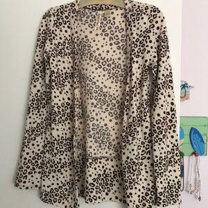 Leopard Cardigan size medium